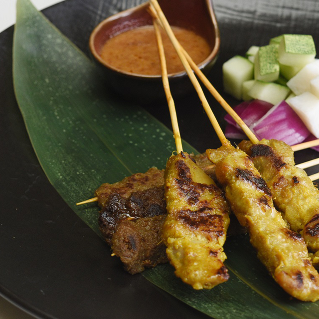 Traditional Malay-Style Grilled Satay