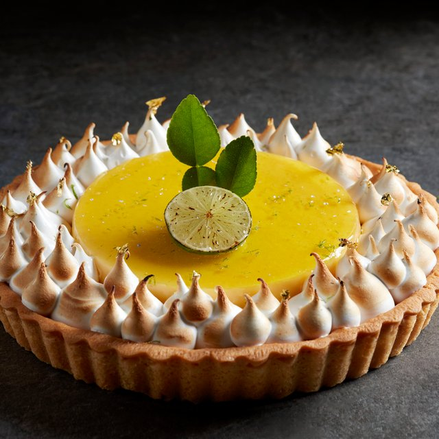 Kaffir Lime Meringue Tart