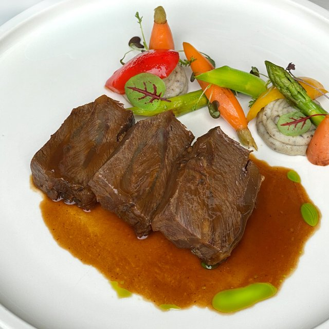 Orange & Mustard Braised Angus Beef Cheek