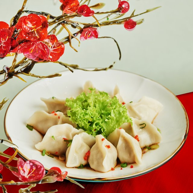 Poached Mushroom and Chinese Cabbage Pork Dumpling