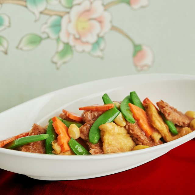 Simmered Omni Meat* in Red Fermented Beancurd with Fresh Beancurd Stick